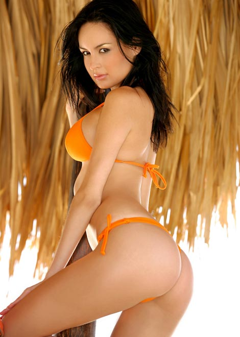 Brunette Babe in Bikini